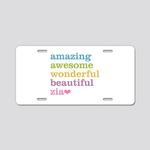 Zia - Amazing Awesome Aluminum License Plate