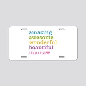 Nonna - Amazing Awesome Aluminum License Plate