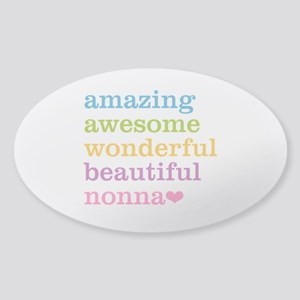 Nonna - Amazing Awesome Sticker (Oval)