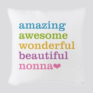Nonna - Amazing Awesome Woven Throw Pillow