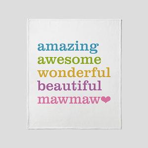 MawMaw - Amazing Awesome Throw Blanket