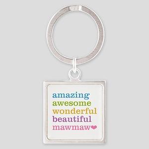 MawMaw - Amazing Awesome Square Keychain