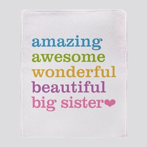 Big Sister - Amazing Awesome Throw Blanket