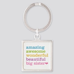 Big Sister - Amazing Awesome Square Keychain