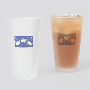 Counting Sheep Drinking Glass