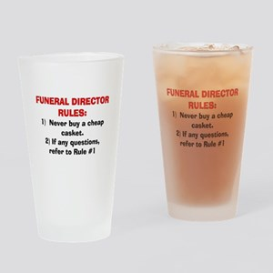 Funeral Director Rules Drinking Glass