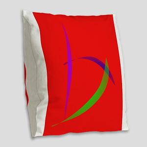 Unfettered Scarlet Abstract Art Burlap Throw Pillo