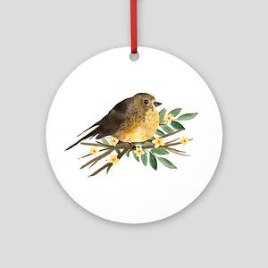 Spring Robin Round Ornament