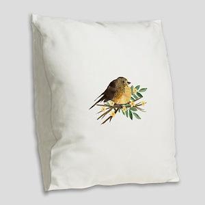 Spring Robin Burlap Throw Pillow