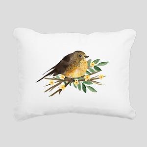 Spring Robin Rectangular Canvas Pillow