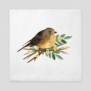 Spring Robin Queen Duvet