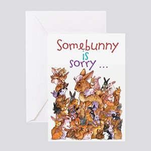 """""""Somebunny Is Sorry"""" Card Greeting Cards"""