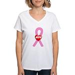 Pink Hope Women's V-Neck T-Shirt