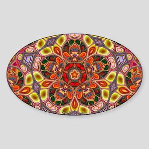 Psychedelic Kaleidoscope Sticker (Oval)