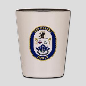 DDG 97 USS Halsey Shot Glass