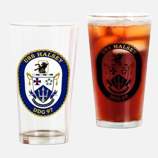 DDG 97 USS Halsey Drinking Glass