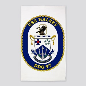 DDG 97 USS Halsey 3'x5' Area Rug