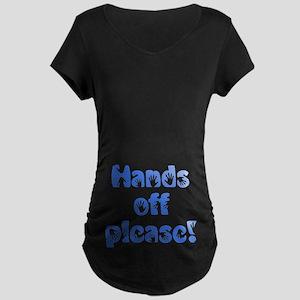 Hands off please! Maternity Dark T-Shirt