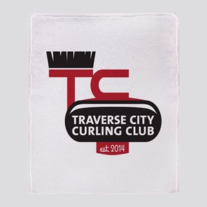 Tc Curling Club Logo Throw Blanket