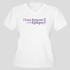 I Love someone with Epilepsy Women's Plus Size V-N