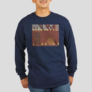 La Noche Buena Adobe Wall Long Sleeve Dark T-Shirt