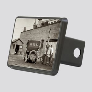 Vintage garage Rectangular Hitch Cover