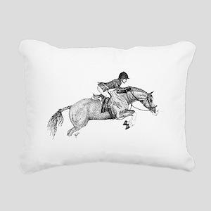 Hunter Jumper Pony Rectangular Canvas Pillow