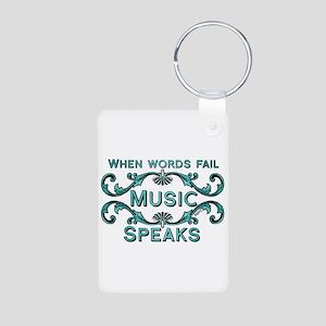 Music Speaks Keychains