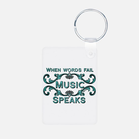 Music Speaks Keychains