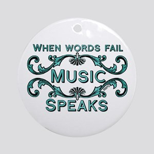 Music Speaks Ornament (Round)