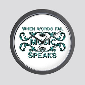 Music Speaks Wall Clock