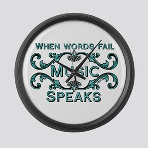 Music Speaks Large Wall Clock