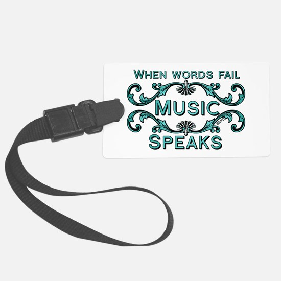 Music Speaks Luggage Tag