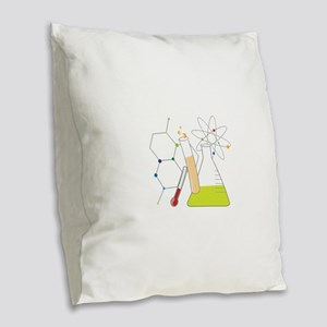 Chemistry Stuff Burlap Throw Pillow
