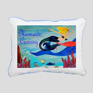 Mermaids Crossings Rug Rectangular Canvas Pillow