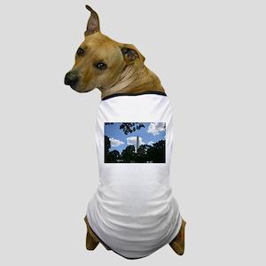 Trees framing Washington Monument Dog T-Shirt