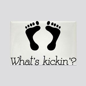 What's kickin'? Rectangle Magnet