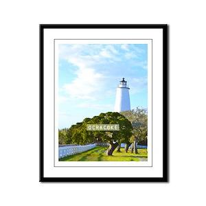 Ocracoke. Framed Panel Print