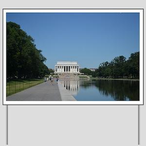 Lincoln Memorial and reflecting pool Yard Sign