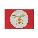 Shriners canvas look Rectangle Magnet (100 pack)