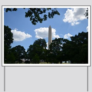Washington Monument framed by Trees Yard Sign