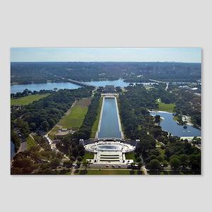 Lincoln Memorial - Pool - WWII memorial Postcards