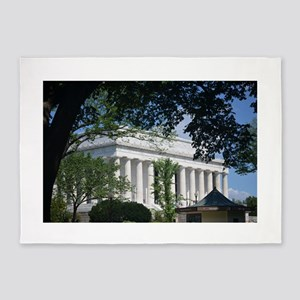 Lincoln Memorial through Trees 5'x7'Area Rug