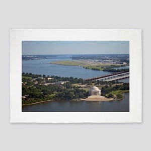 Jefferson Memorial from Washington Monument 5'x7'A