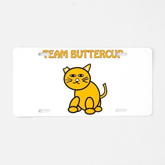 Team Buttercup Aluminum License Plate