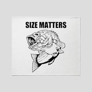 Size Matters Fishing Throw Blanket
