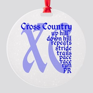 Cross Country XC blue Round Ornament