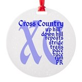 Cross country Round Ornament