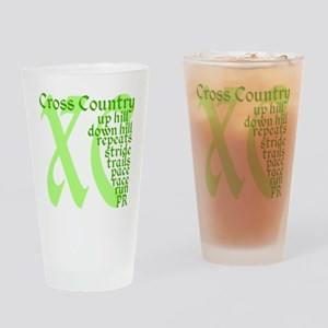 Cross Country XC green Drinking Glass