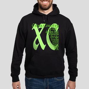 Cross Country XC green Hoodie (dark)